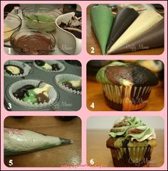 The bakers who created this cupcake suggest to top it off with a plastic insect. I love this idea for a fancy bake sale during the school fair (Leuke jongens tractatie: Camouflage Cupcakes - leuk met plastic insect)