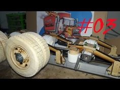 llanta en madera para camión a escala FACIL ( Sin usar herramientas) - YouTube