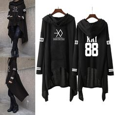 Kpop exo new fashion korean exo do lay se hun kai sing for you exo hoodies Skirt Outfits, Cool Outfits, Fashion Outfits, 2000s Fashion, Mode Cool, Long Skirts For Women, Mein Style, Mode Hijab, Kawaii Clothes