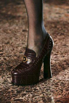 91f4f303e6c Versace Fall 2018 Ready-to-Wear Fashion Show. Shoe BootsShoes ...