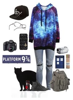 """Outfit of the day"" by teddythebearx on Polyvore featuring 157+173 designers, BOY London, AMIRI, Converse and OtterBox"