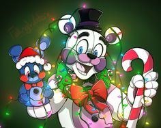 FNAF. Sister Location. Funtime Freddy. Christmas.