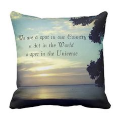 Photo Scenery Universe Quote by Kat Worth Throw Pillow - photography gifts diy custom unique special