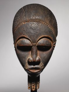 Baule Male Portrait Mask (Mblo), Ivory Coast, Name Piece of the Totokro Master - Sotheby's