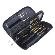 Goso 24pcs Single Hook Lock Pick Set Locksmith Tools Lock Pick Kit