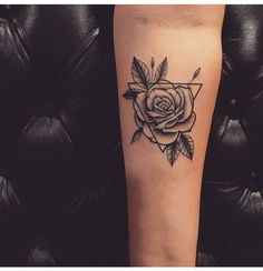 23 Triangle Tattoo Ideas You Will Be Obsessed With Triangle tattoo designs are very popular and have been seen by celebrities like Rita Ora, Ellie Goulding and others. Trendy Tattoos The Dreieckiges Tattoos, Mini Tattoos, Trendy Tattoos, Forearm Tattoos, Rose Tattoos, Unique Tattoos, Flower Tattoos, Tattoos For Guys, Tattoos For Women