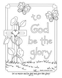 To God be the Glory coloring page