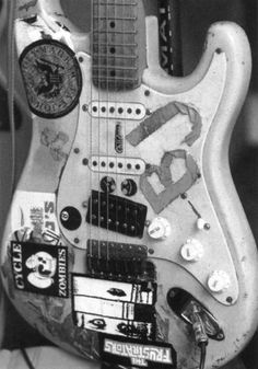 guitar | music | instrument | rock n roll | stickers | old | used | cool | band | guitarist