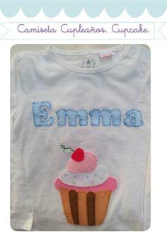 Camiseta Cumpleaños con cupcakes!! / Cosetes de Marta - Artesanio