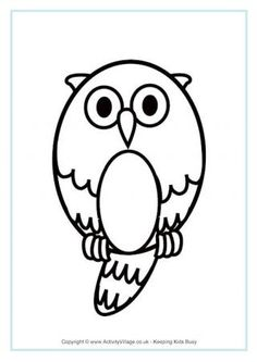 Owl Colouring Page 2