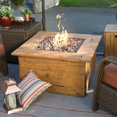 Red Ember Julesburg 35 in. Gas Fire Table - A perfect addition to your backyard deck, porch, or patio, the Red Ember Julesburg 35 in. Gas Fire Table is an effortless source of beautiful flames. ...