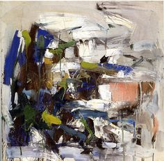 A member of the first generation of Abstract Expressionists, Joan Mitchell was known for painting big, light-filled abstractions, animated by loosely applied skeins of bright color, infused with the energy and excitement of a large metropolis. Abstract Art Painting, Abstract Expressionism, Art Painting, Abstract Artists, Expressionist Art, Abstract Painting, Art, Abstract, Abstract Expressionist