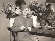 Doris Day on the set of her first movie in 1948.