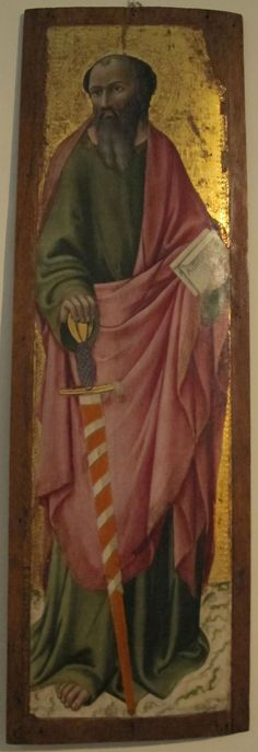 Sano di pietro, san paolo - Category:Paintings by Sano di Pietro in the Pinacoteca Nazionale (Siena) — Wikimedia Commons Сано ди Пьетро. Апостол Павел.