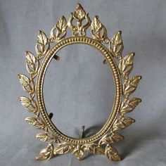 Antique Victorian Calla Lily Mirror or Picture Frame