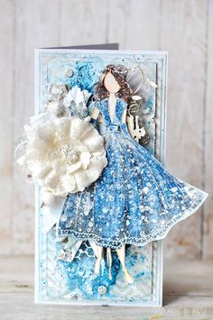 Hello, Rita! Wowza, is this stamped doll beautiful or what? Marta Piekarczyk, you are so talented with our Julie Nutting stamps! #blue #stamping #julienutting