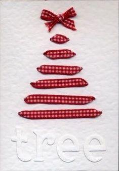 The Ribbon Christmas Tree Card 49 Awesome DIY Holiday Cards Diy Holiday Cards, Christmas Tree Cards, Noel Christmas, Handmade Christmas, Christmas Decorations, Diy Cards, Simple Christmas, Origami Christmas, Homemade Decorations