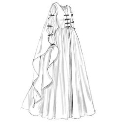 I'd love to make this dress for a vow renewal ceremony. I'd make it in green velvet though.