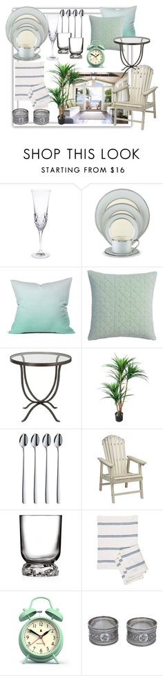 """""""Silver"""" by kazami11 ❤ liked on Polyvore featuring interior, interiors, interior design, home, home decor, interior decorating, LINLEY, Lenox, DENY Designs and CB2"""