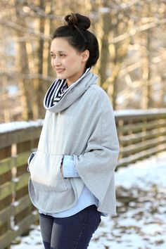 Popover Poncho Pattern Review + Giveaway on Delia Creates, pattern by April Rhodes
