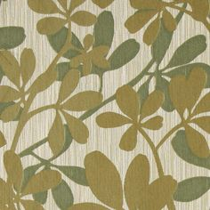 Green floral fabric for upholstery