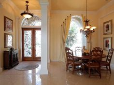 The entrance way to a beautiful home being sold by Casa Fina Realty. If interested feel free to call 813-569-6294!