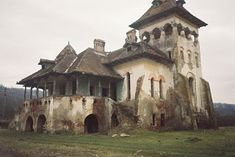 Monumente istorice din Romania: Conacul C. Medieval Houses, Beautiful Buildings, Traditional House, Home Deco, Abandoned, Tourism, House Design, Country, Painting