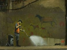 Banksy Stencil, Stencils, Painting, Smart Cookie, Artists, Painting Art, Paintings, Stenciling, Sketches