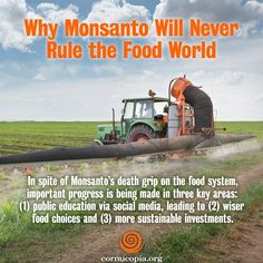 The Three-Prong Movement That's Stopping the Beast in Its Tracks. More here: http://www.cornucopia.org/2014/07/monsanto-will-never-rule-food-world