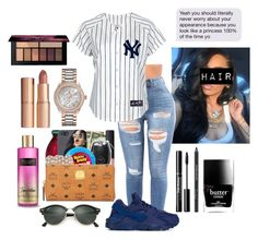 """""""My homegirl💙 @metro-boomin"""" by amari-nyelle ❤ liked on Polyvore featuring Bulova, Charlotte Tilbury, Rodial, Butter London, NIKE and Ray-Ban"""