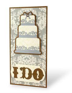 I Do Divine #Wedding #Cricut #Scrapbooking Card from Creative Memories    http://www.creativememories.com