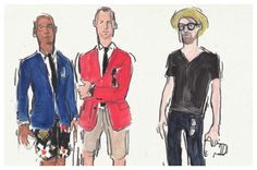 A new take on Fashion Week Street Style We commissioned fashion illustrator mr richard haines to capture colorful characters attending the shows