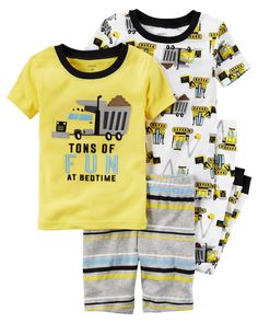 Toddler Boy 4-Piece Snug Fit Cotton PJs from Carters.com. Shop clothing & accessories from a trusted name in kids, toddlers, and baby clothes.