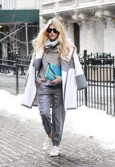 Layers on layers on layers. We love this monochromatic groutfit!
