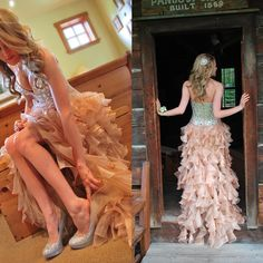 Find a Sparkly Ruffled High Low Prom Dresses Champagne Slit Crystals Tulle Asymmetrical Prom Dress Girls Strapless Dresses Gowns Online Shop For U !
