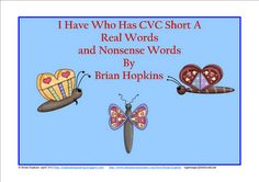 FREEBIE Insects - I Have Who Has CVC Short A - Nonsense and Real Words