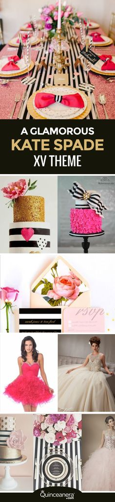 A Kate Spade Quinceanera theme is perfect if you're in love with hot pink, stripes, and want to look extra glitzy on your big day. - See more at: http://www.quinceanera.com/decorations-themes/kate-spade-quinceanera-theme/?utm_source=pinterest&utm_medium=social&utm_campaign=article-011816-decorations-themes-kate-spade-quinceanera-theme#sthash.eZL2t4i2.dpuf