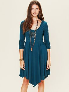 FP Beach Miles of Henley Mini Dress at Free People Clothing Boutique