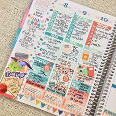My mid-week spread! Cute Planner, Planner Layout, Goals Planner, Planner Pages, Happy Planner, Printable Planner, Planner Stickers, Planner Ideas, Printables