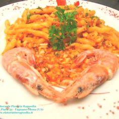 """Pasta siciliana """"Busiata"""" al ragù fresco di mare - Ristorante pizzeria Rapsodia di Fagnano Olona (VA)"""