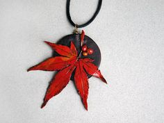 polymer clay leaves |