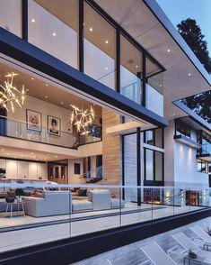 50 Modern And Elegant House Architecture Design Inspiration Luxury Homes Dream Houses, Luxury Homes Interior, Luxury Home Decor, Room Interior, Apartment Interior, Modern Mansion Interior, Dream Homes, Apartment Goals, Interior Garden