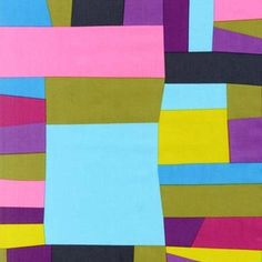 Cynthia Frenette - Kona Modern Quilts - Wonky Patchwork in Berry