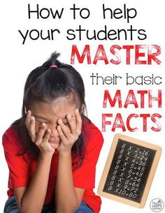 Helping students MASTER Math Facts...The Math Facts Challenge!