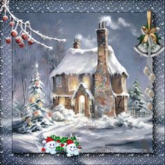 Merry Christmas Graphics and GIF Animation for Faceboook White Christmas, Christmas Scenes, Very Merry Christmas, Christmas Art, Beautiful Christmas, Animated Christmas Pictures, Christmas Images, Merry Christmas Animation, Christmas Ecards