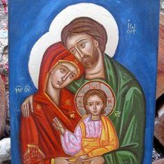 Catholic art theme- The Holy Family icon