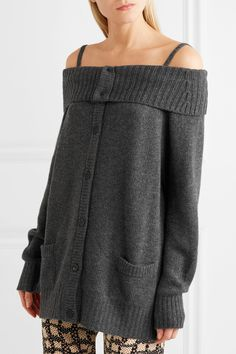 Prada | Cold-shoulder wool and cashmere-blend cardigan | NET-A-PORTER.COM