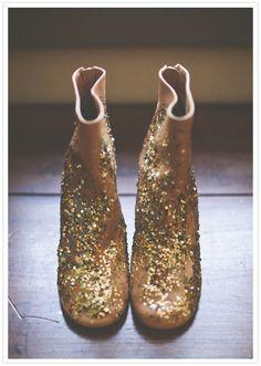 Maison Martin Margiela glitter boots