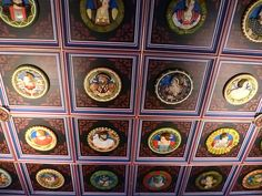 Restored ceiling of the King's Chamber, Stirling Castle, Scotland.  Photo by Kim Traynor.