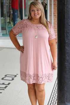 One Faith Boutique - A Touch Of Serenity Dress With Lace Detail ~ Dusty Rose ~ Sizes 12-18, $36.00 (http://www.onefaithboutique.com/new-arrivals/a-touch-of-serenity-dress-with-lace-detail-dusty-rose-sizes-12-18/)